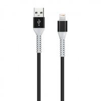Кабель для iPhone 8pin, Smartbuy iK-512FL, TPE оплетка, черный, 1м