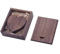 Память USB 2.0 Flash, 32GB, BiNFUL, дерево, wood №7 с боксом, dark wood heart