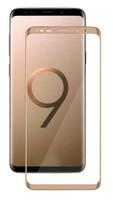 Защитное стекло Samsung Galaxy S9 Plus на дисплей, 3D, золотистый
