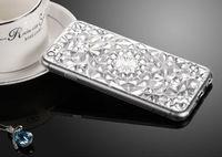 Чехол-накладка на Apple iPhone 5/5S, силикон, кристалы, прозрачный