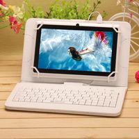 Универсальный чехол-клавиатура, 7-8'', micro-USB, кожа, белый