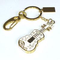 Память USB 2.0 Flash, брелок-скрипка, золотист, 8 Gb