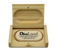 Память USB 2.0 Flash, 32GB, BiNFUL, дерево, wood №2 с боксом, bamboo