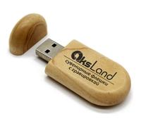 Память USB 2.0 Flash, 32GB, BiNFUL, дерево, wood №2, wood