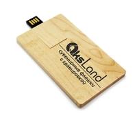 Память USB 2.0 Flash, 32GB, BiNFUL, дерево, wood №10 card, mapple wood