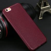 Чехол-накладка на Apple iPhone 5/5S, силикон, под кожу, прошитый, бордовый