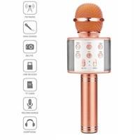 Портативный микрофон караоке, Орбита WS-858, Bluetooth, USB, FM, AUX, TF, 1800 mAh