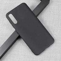 Чехол-накладка на Samsung A11 (A115) / M11 (M115) (2020) силикон, ультратонкий, матовый, черный