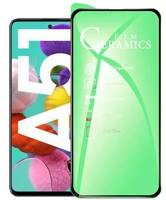 Защитное керамическое стекло Samsung Galaxy A51 (2019) на дисплей, с рамкой, 5D, черный