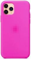 Чехол-накладка на Apple iPhone 12 mini, original design, закрытый, микрофибра, с лого, фуксия
