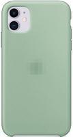 Чехол-накладка на Apple iPhone 12 mini, original design, закрытый, микрофибра, с лого, темно-мятный