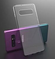 Чехол-накладка на Samsung S10 силикон, ультратонкий, прозрачный