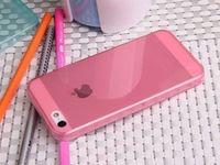 Чехол-накладка на Apple iPhone 5/5S, силикон, глянцевый, розовый
