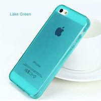 Чехол-накладка на Apple iPhone 5/5S, силикон, глянцевый, зеленый