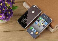 Цветное защитное стекло для Apple iPhone 4/4S комплект, черный