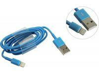 Кабель для iPhone 8pin, Smartbuy iK-512c, голубой, 1м