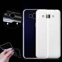 Чехол-накладка на Samsung J3 (J300) (2015) силикон, ультратонкий, прозрачный