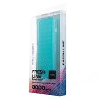 Портативный аккумулятор 8000mAh, Activ Fresh Line A151-01, 1xUSB, фонарь, зеленый