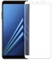 Защитное стекло Samsung Galaxy J6 (2018) на дисплей, с рамкой, белый