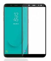 Защитное стекло Samsung Galaxy J6 (2018) на дисплей, с рамкой, черный