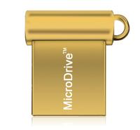 Память USB 2.0 Flash, 8GB, MicroDrive, мини, золотистый
