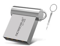 Память USB 2.0 Flash, 8GB, MicroDrive, мини, серебристый