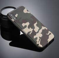 Чехол-накладка на Apple iPhone X/Xs, силикон, камуфляж, зеленый
