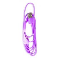Кабель для iPhone 8pin, Smartbuy iK-512c, фиолетовый, 1м