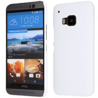 Чехол-накладка на HTC One M9 пластик, белый