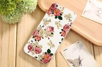 Чехол-накладка на Apple iPhone 6/6S, силикон, flowers 6
