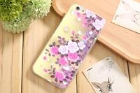 Чехол-накладка на Apple iPhone 6/6S, силикон, flowers 9
