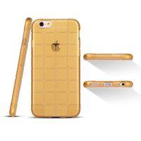 Чехол-накладка на Apple iPhone 5/5S, силикон, куб, золотистый