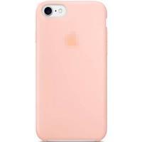 Чехол-накладка на Apple iPhone X/Xs, original design, микрофибра, с лого, персиковый