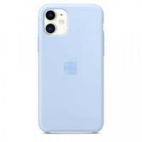 Чехол-накладка на Apple iPhone XR, original design, микрофибра, с лого, светло-голубой