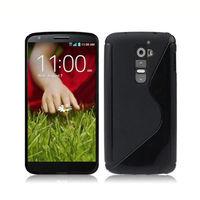 Чехол- накладка LG G2 силикон, черный