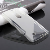 Чехол-накладка LG Magna / G4c / G4 mini, силикон, S-line, прозрачный, белый