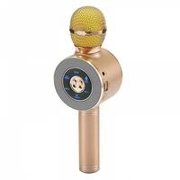 Портативный микрофон караоке, Орбита WS-668, Bluetooth, USB, FM, AUX, TF, 1800 mAh