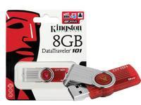 Память USB 2.0 Flash, 8GB, Kingston DataTraveler 101, Red