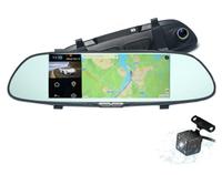 "Видеорегистратор + GPS радар зеркало с камерой заднего вида, Android 5.0, FHD, 7.0"", GPS, 3G (без га"