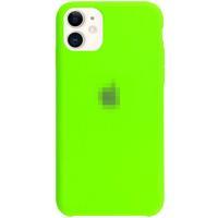 Чехол-накладка на Apple iPhone 12 / Pro, original design, закрытый, микрофибра, с лого, кислотно-зел