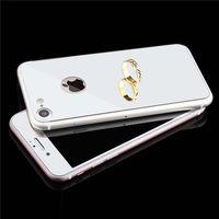 Цветное защитное стекло для Apple iPhone 7/8/SE2 комплект, серебристый