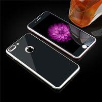 Цветное защитное стекло для Apple iPhone 7/8/SE2 комплект, черный