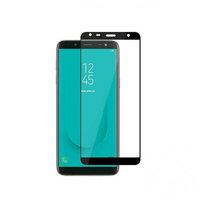 Защитное стекло Samsung Galaxy J4 Plus (2018) на дисплей, с рамкой, 4D, черный