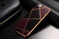 Чехол-накладка на Apple iPhone 5/5S, силикон, кожа, kasino, черно-бордовый