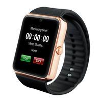 Смарт-часы GT08, microSim, 240*240 TFT, BT, 0,3Mp cam, microSD, золотистый