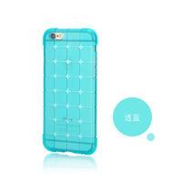 Чехол-накладка на Apple iPhone 4/4S, силикон, quad, голубой