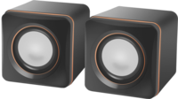 Активные колонки 2.0, Defender SPK 33, 2x2.5W, черный