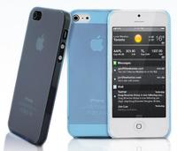 Чехол-накладка на Apple iPhone 5/5S, пластик, тонкий, матовый, голубой