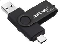 Память USB 2.0 Flash, 32GB, Nuiflash, OTG Type-C, черный
