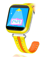 Смарт-часы Q750, детские, Sim, LCD, GPRS, Wi-Fi, GPS, желтый